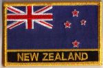 New Zealand Embroidered Flag Patch, style 09.